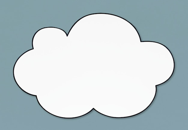 Blank white cloud shaped banner