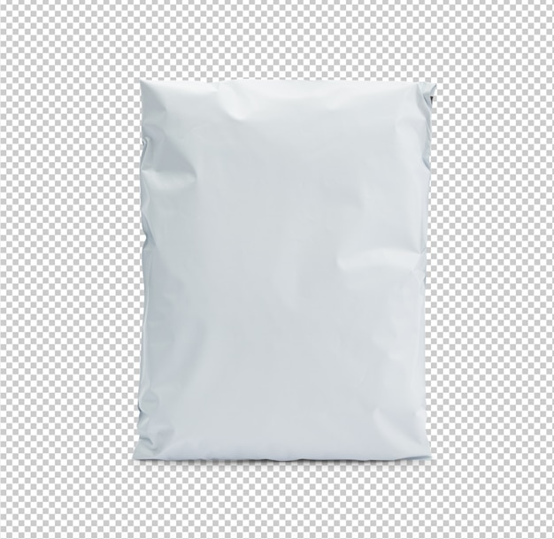 Blank white plastic bag package mockup template for your design.