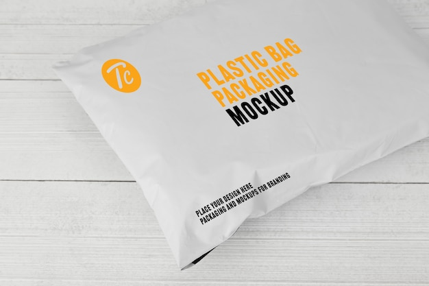 빈 흰색 비닐 봉투 포장 이랑
