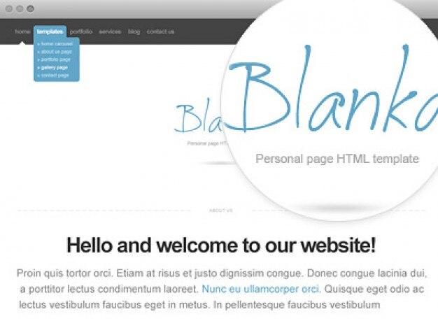 Blanka sito template