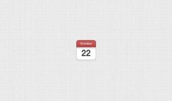 Blog calendar date leather mini month stitched ui
