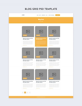 Blog grid inner page template
