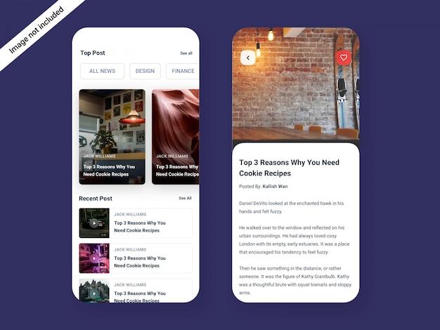 Блог & новости app дизайн пользовательского интерфейса
