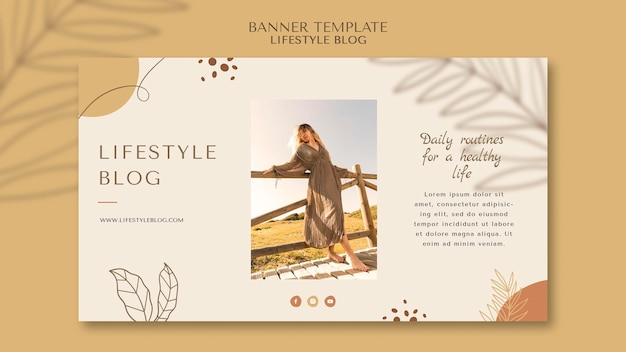Blogger lifestyle banner template