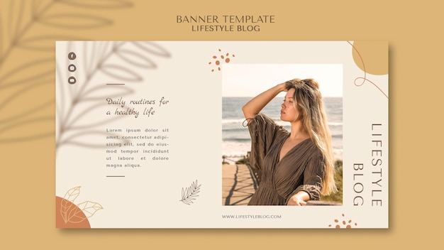 Blogger lifestyle horizontal banner