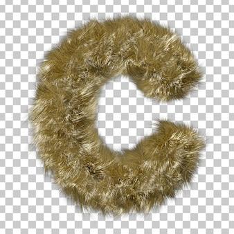 Blonde fur alphabet c