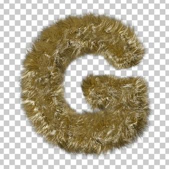 금발 모피 알파벳 g