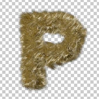 금발 모피 알파벳 p
