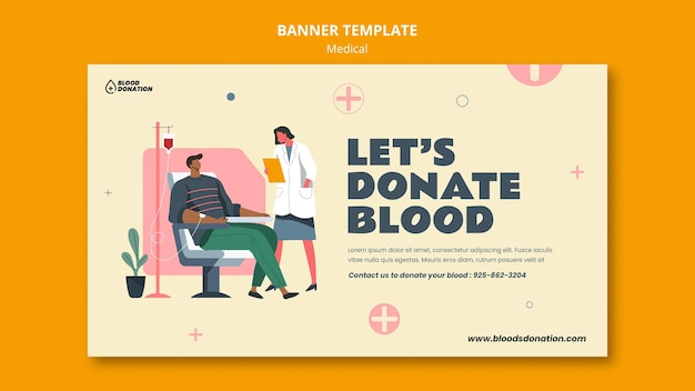 Blood donation banner template