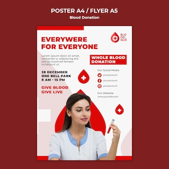 Blood donation event poster template