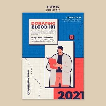 Дизайн шаблона флаера донорства крови