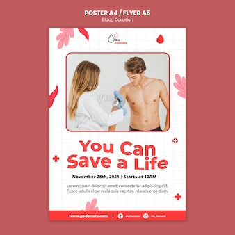 献血ポスターやチラシのデザインテンプレート
