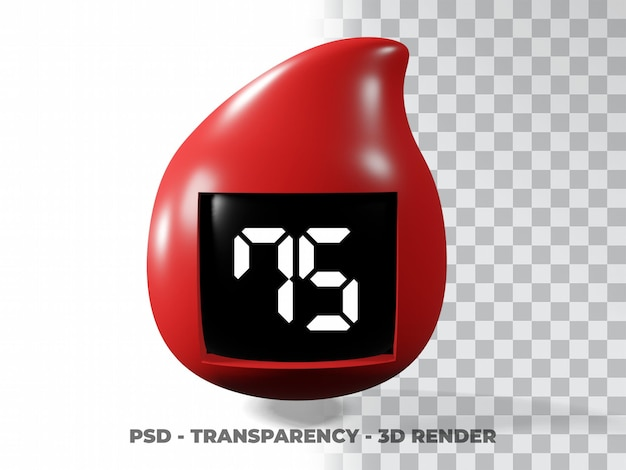 혈액 방울 그림 세계 당뇨병의 날, 혈액 기증자의 날 3d 모델링 투명도 배경