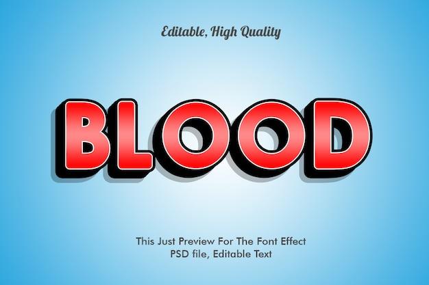 Шаблон эффекта шрифта крови