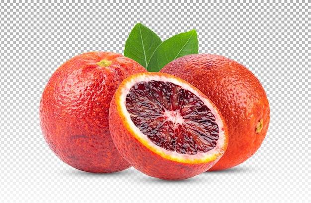 Красный апельсин изолирован