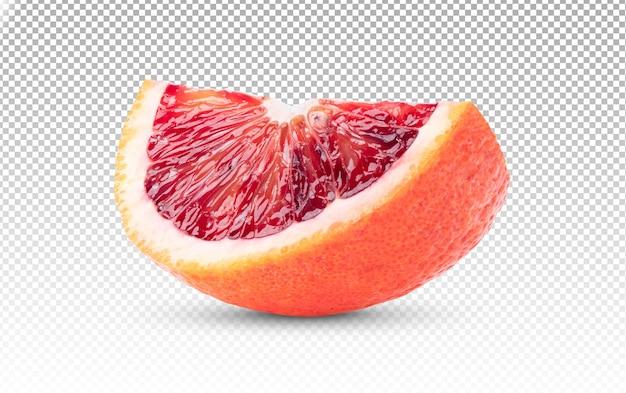 Ломтик красного апельсина изолирован