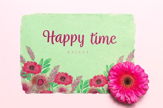 Концепция счастливого времени цветущего цветка