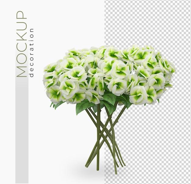 3dレンダリングで花の花の装飾