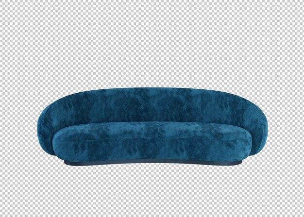 블루 3d 현대 소파 절연