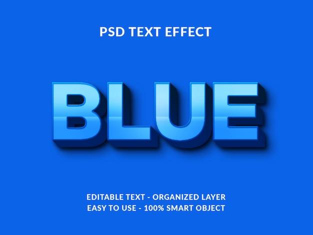 Синий 3d стиль текста эффект