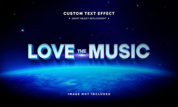 Синий эффект стиля текста 3d