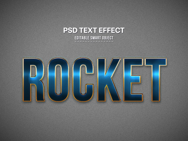 Blue 3d text style effect