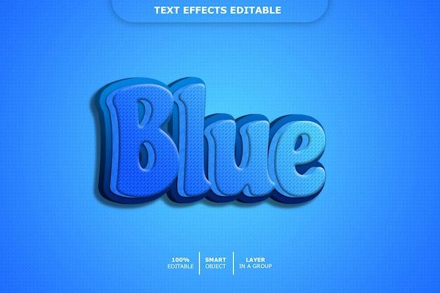 青い3dテキストスタイル効果