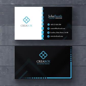 Синий минимальный шаблон визитной карточки