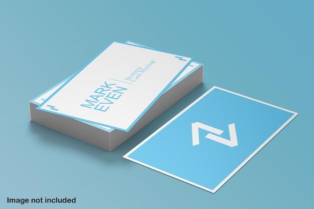 파란색과 흰색 명함 모형