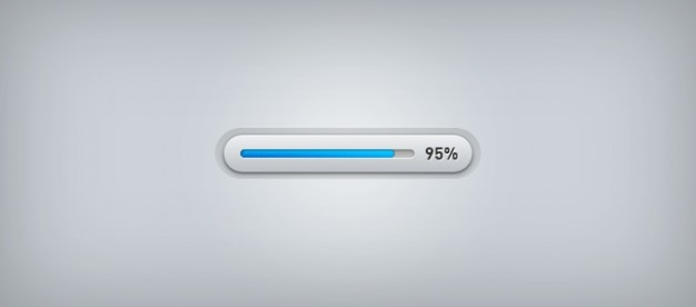 Blue bar progress bar psd