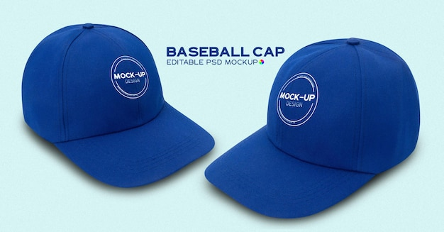 파란색 야구 모자 모형