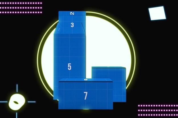 Blue boxes mockup