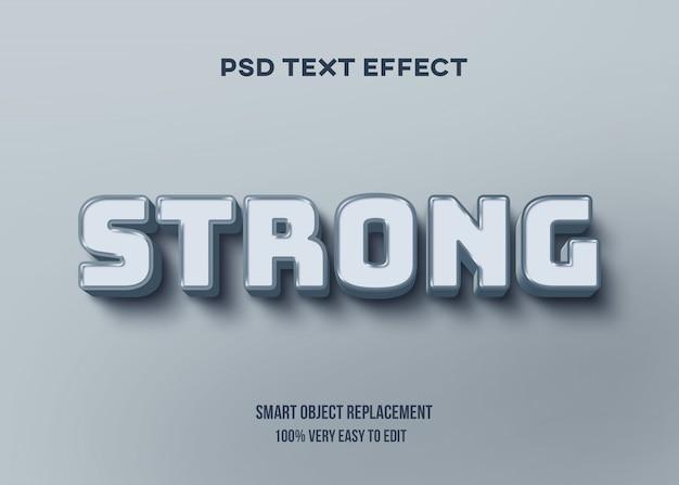 Синий яркий пастельный текстовый эффект
