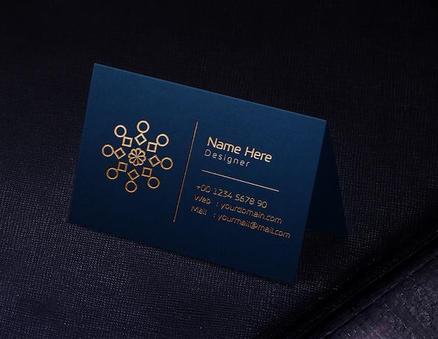 블루 명함 로고 모형
