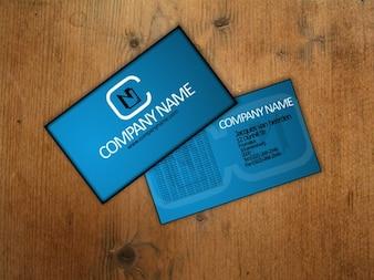 Blue customizable business card