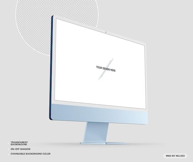 블루 데스크탑 컴퓨터 프로토 타입