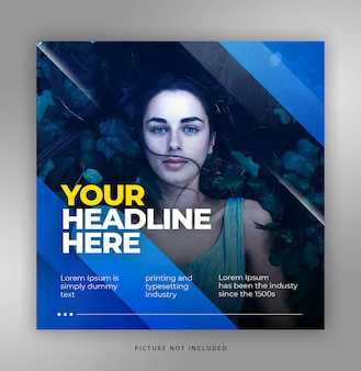 Blue dynamic elegant instagram template