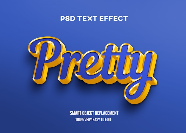 Blue and gold text effect