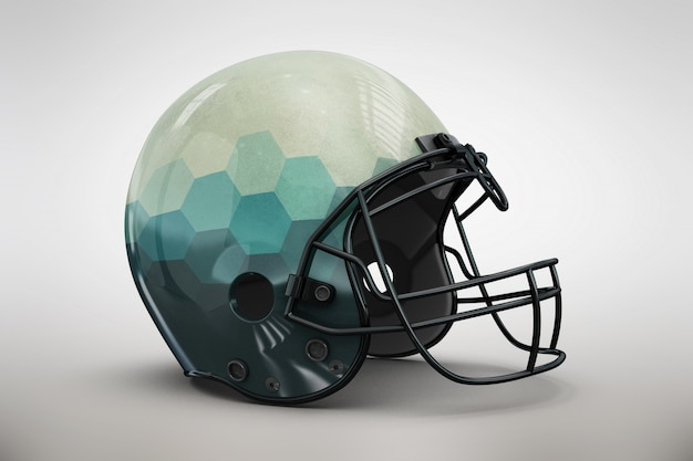 Blue gradient helmet mock up