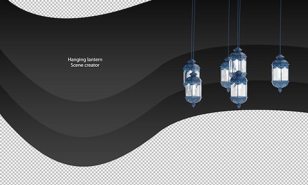 青い吊り提灯のクリッピングパス青い提灯が分離されました