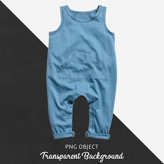 Blue jumpsuit for baby or children on transparent background