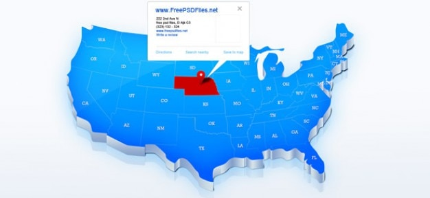 アメリカのブルーマップ