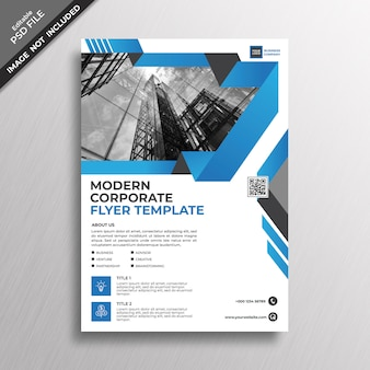 Blue modern business corporate flyer template