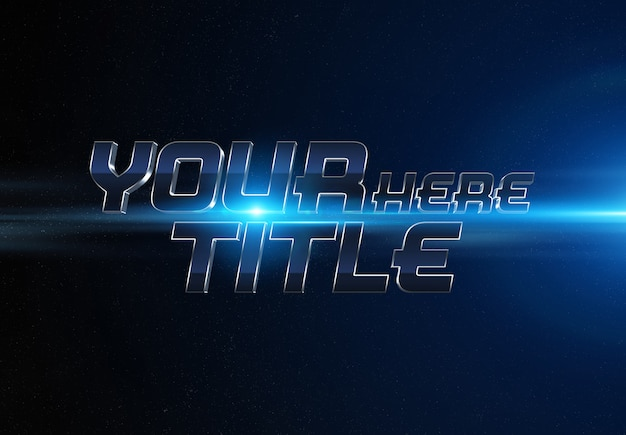 Blue movie trailer text effect