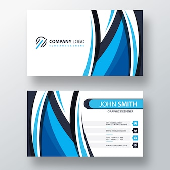Blue shape psd business template
