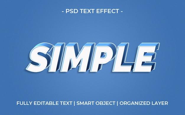 Синий простой шаблон текстового эффекта