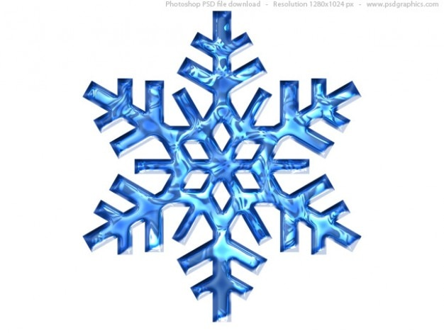 Blu fiocco di neve icona (psd)