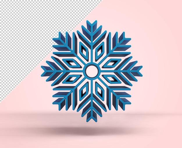 Голубая снежинка на розовом фоне, макет