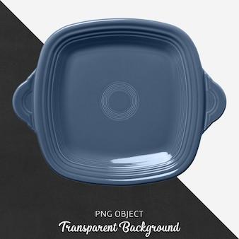 Blue square ovenware on transparent background