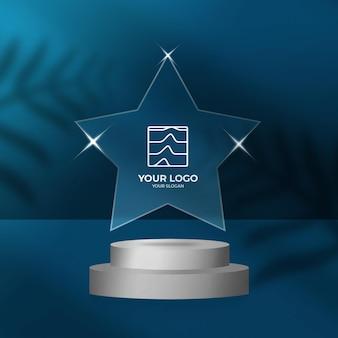 Макет логотипа blue star